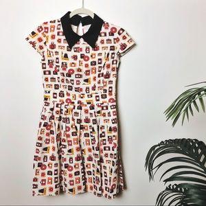 RARE Modcloth Poise and Clock Camera Print Dress